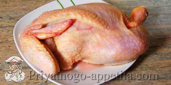 Пол курицы в духовке рецепт