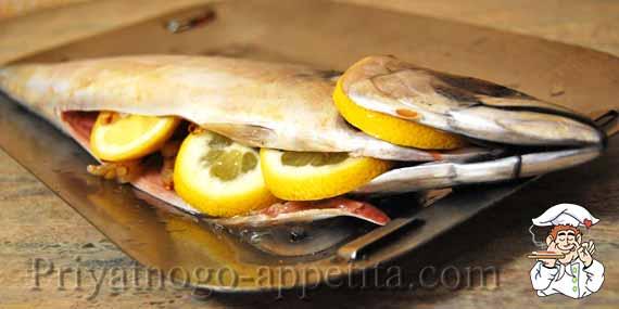 рыба фаршированная лимоном