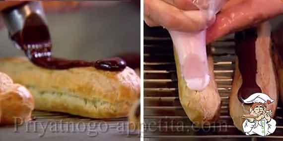эклеры с глазурью рецепт с фото