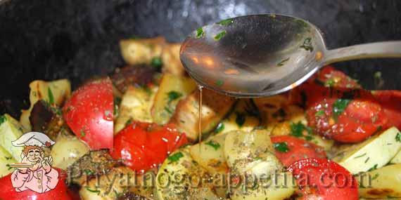растительное масло в овощи