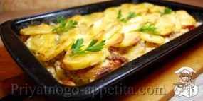 Запеченная картошка с фаршем