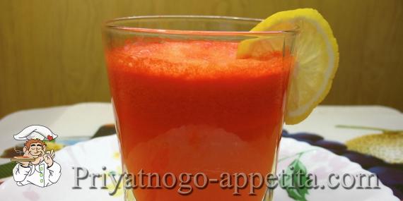 Морковно-цитрусовый сок