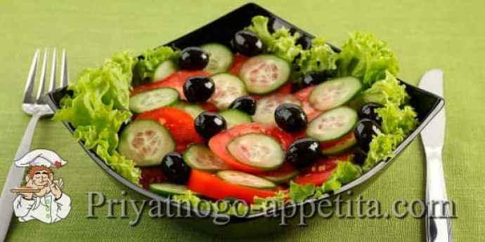 Овощной салат с кунжутным маслом
