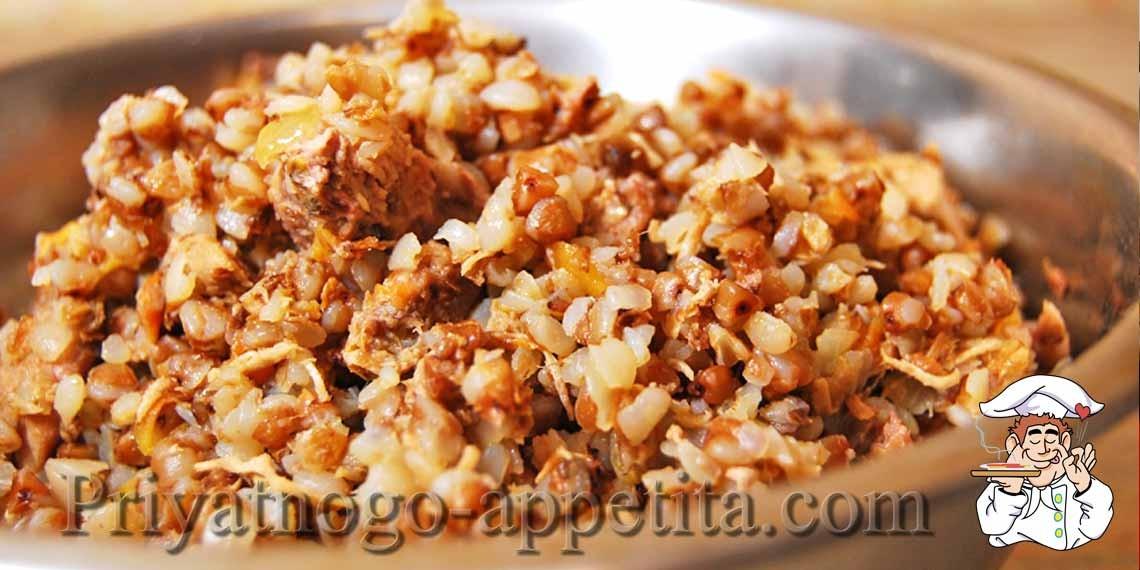 Каша гречневая с тушенкой рецепт с фото пошагово