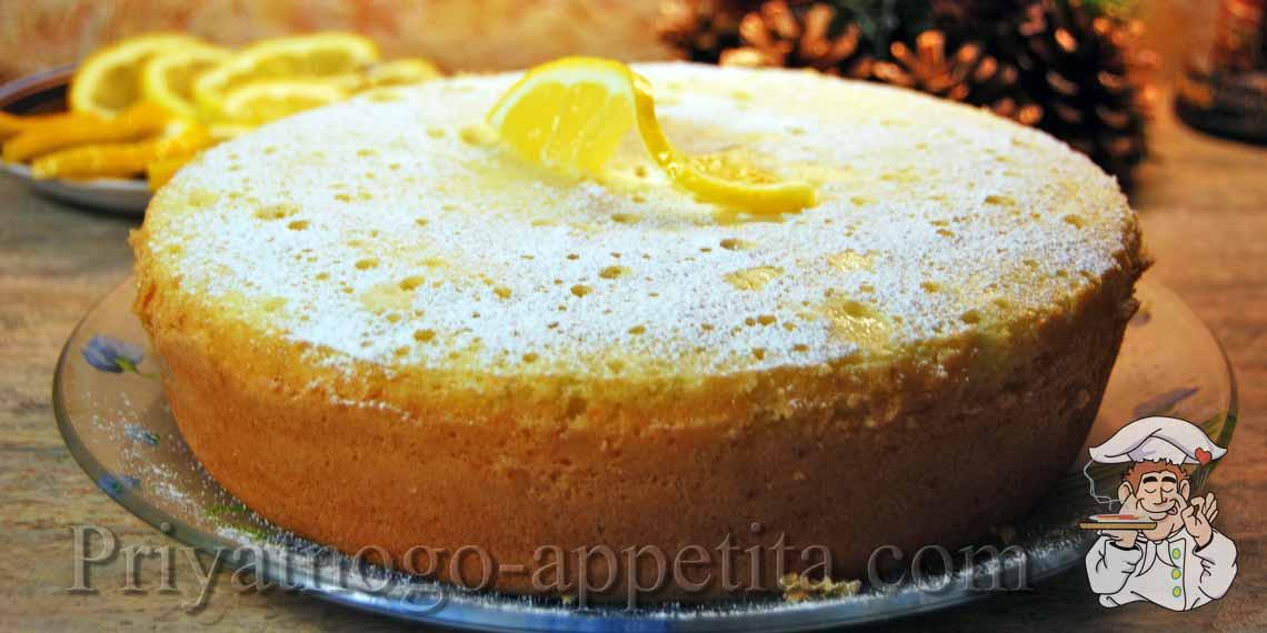 Лимонный бисквит фото