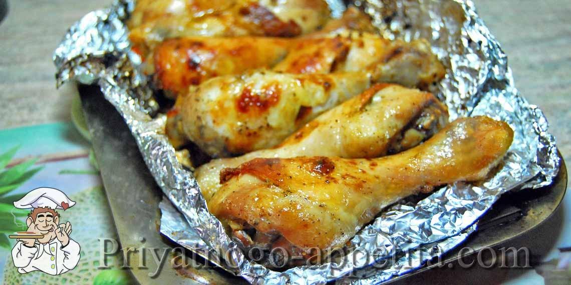 куриные бедра в духовке в фольге