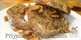 Пирог из цуккини с орехами