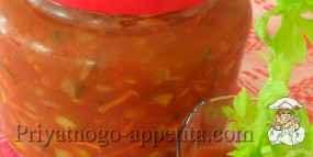 Салат из зеленых помидоров консервированный