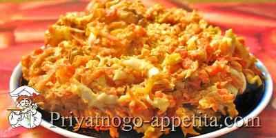 Салат из отварной моркови