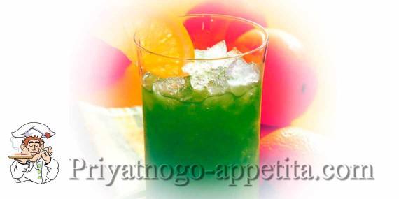 Коктейль «Зеленый крокодил»