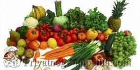 Таблица средней массы продуктов