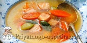 Рыбный бульон с овощами