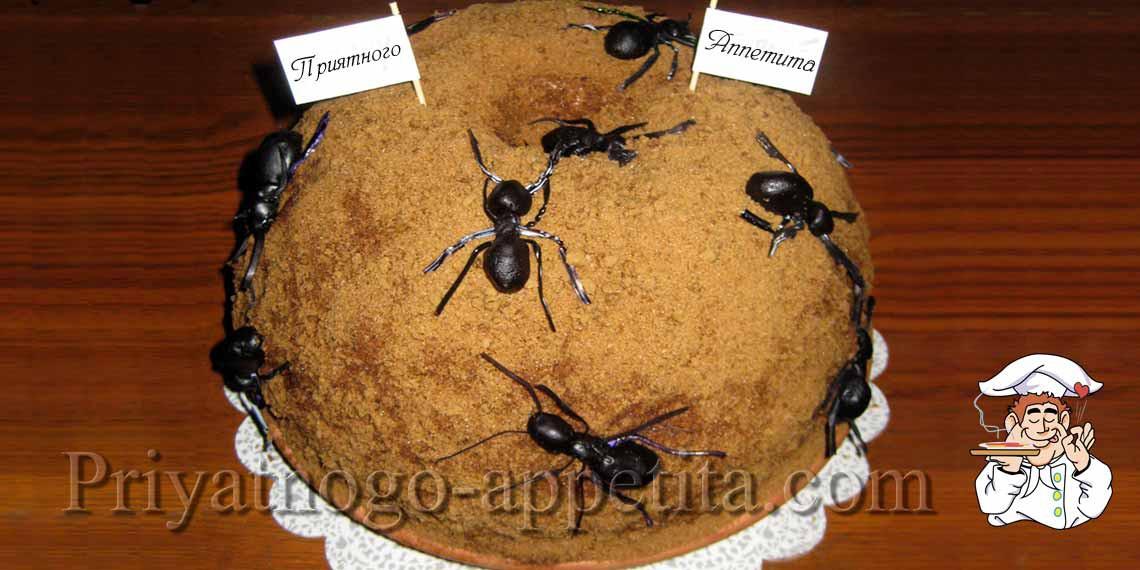 Как сделать торт муравейник рецепт из печенья