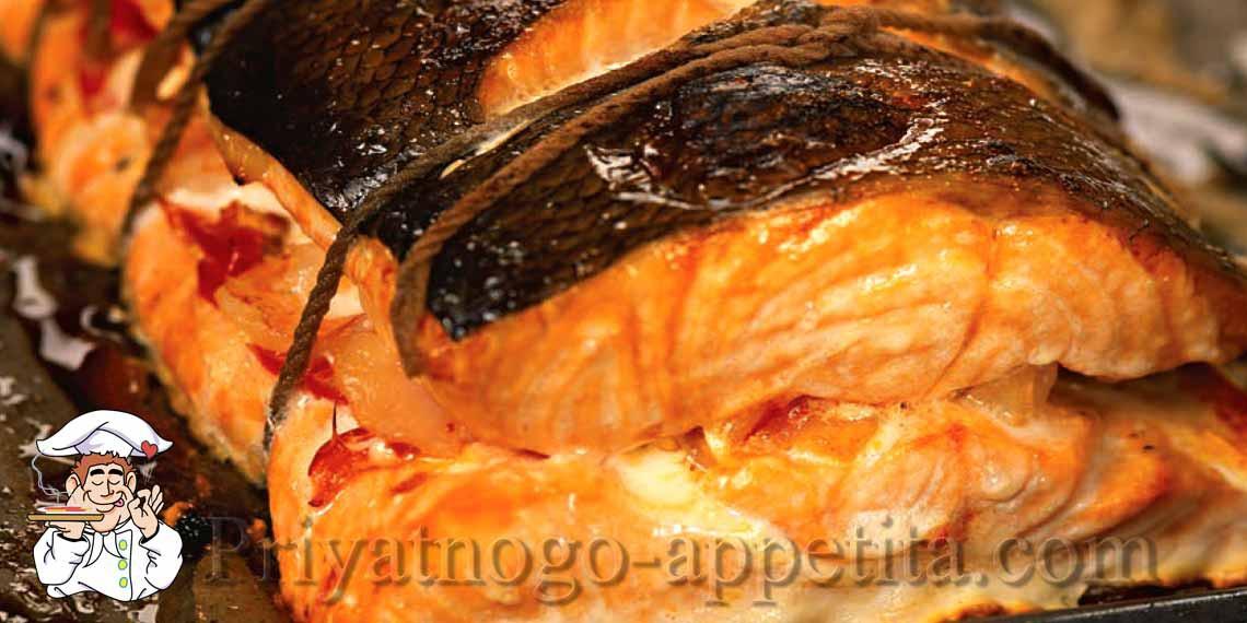 Фаршированная семга рецепт пошагово