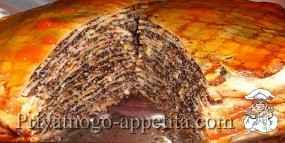 Маковый блинный торт