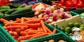 Сравнительная таблица размеров овощей в граммах