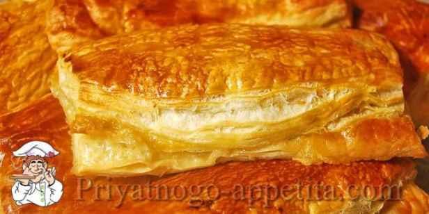 Слоеное тесто с фаршем