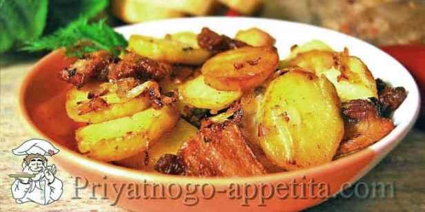 Жареная картошка на сале