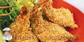 Креветки с кунжутом