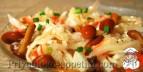 Салат из квашеной капусты с грибами