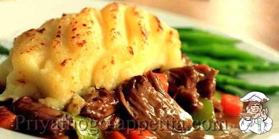 рецепт картофельной запеканки с мясом из пюре