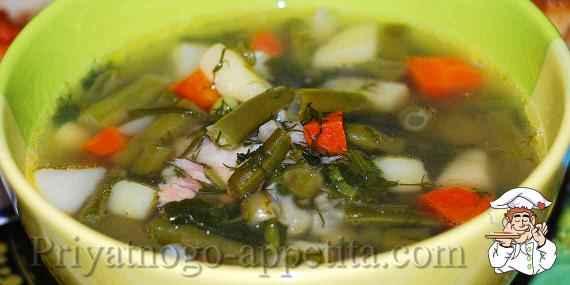 Суп из стручковой фасоли