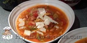 Куриный суп с савойской капустой