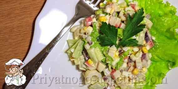 Салат кальмары с ананасом рецепт пошагово