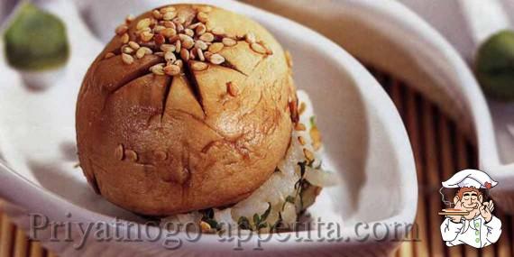 Нигири-суши с шампиньонами