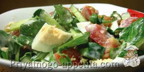Салат со шпинатом