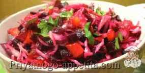 Салат из отварной свеклы
