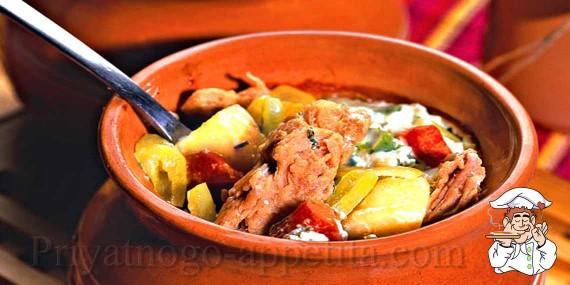 Соевое мясо с овощами