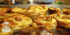 Картофель, запеченный в духовке с салом