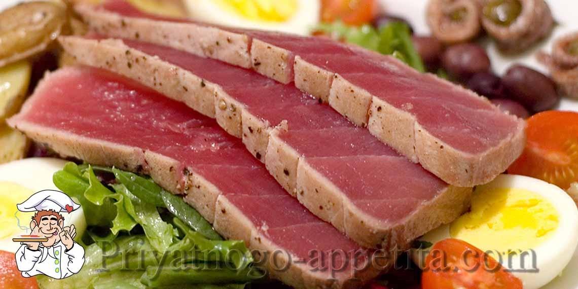как приготовить стейк из туны