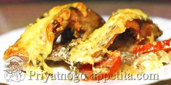 Блинный пирог с курицей и грибами и сыром рецепт с фото пошагово в духовке