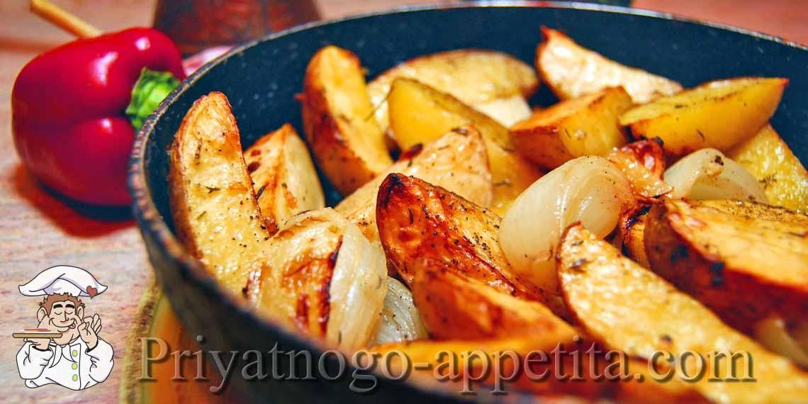рецепт с фото картошка с чесноком в духовке
