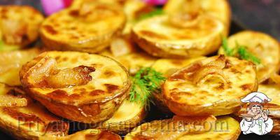Картошка с салом духовке