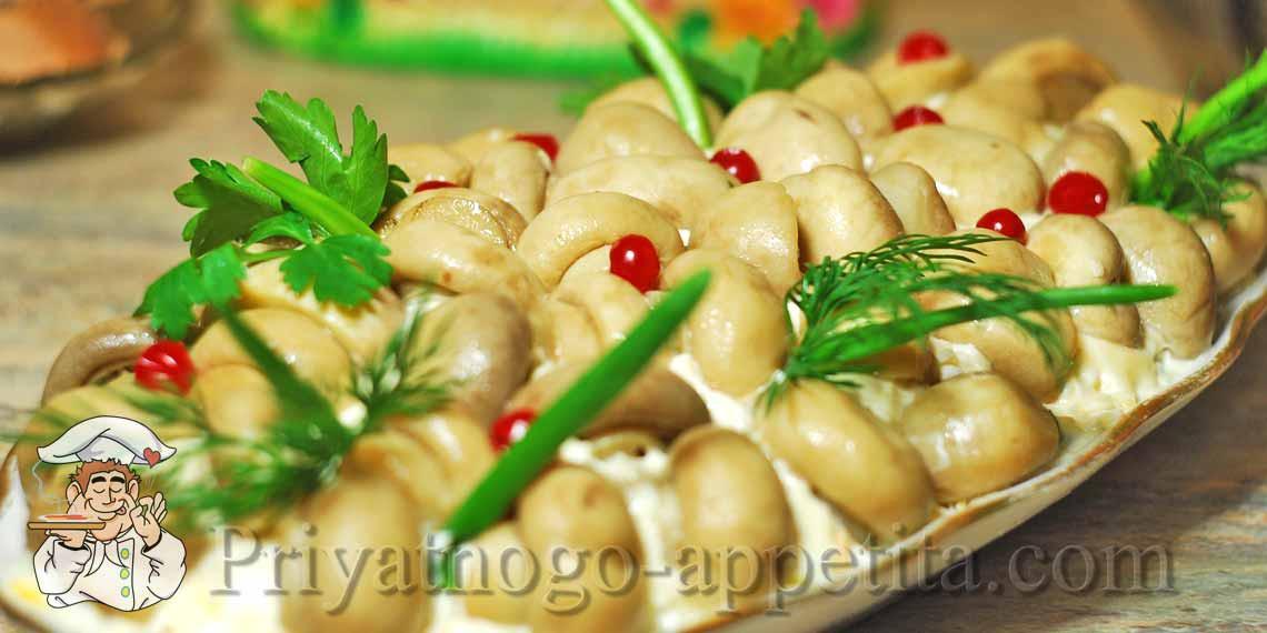 Салаты с грибами рецепты с простые и