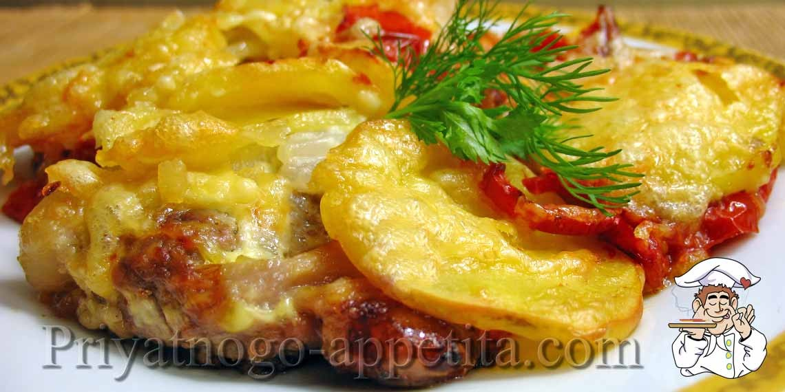Картошка с мясом запеченные в духовке рецепт с пошагово 29