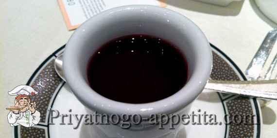 Кисель из черной смородины