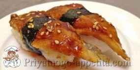 Нигири-суши с угрем