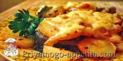 Рыба, запеченная с картофелем