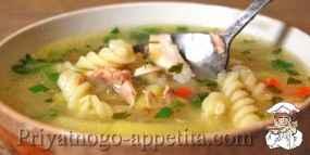 Суп на курином бульоне