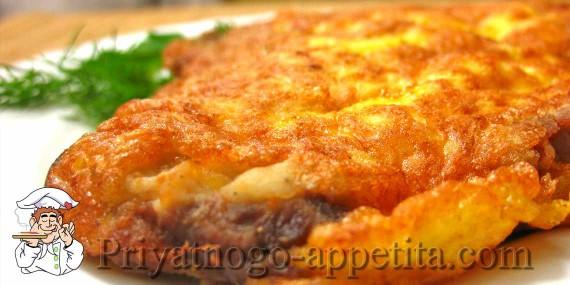 Отбивная из свинины с сыром