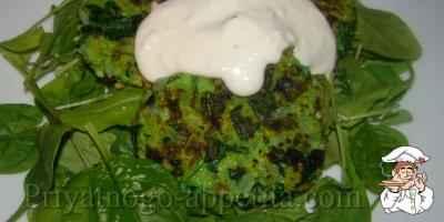 Котлеты из зелени с сыром