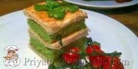 Мильфей с овощной начинкой