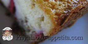 Клубнично-ореховый кекс