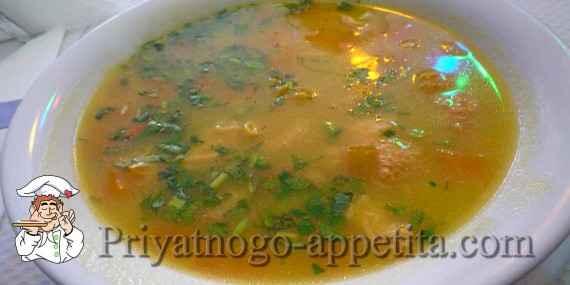 Куриный суп с горохом и рисом