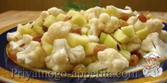 Салат из цветной капусты с изюмом