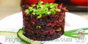 Свекольный салат с огурцами